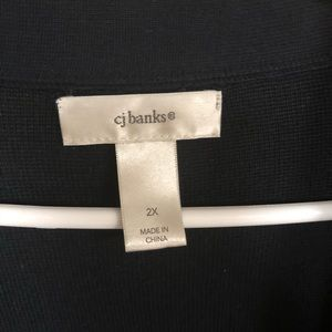 CJ Banks Sweaters - Knit navy cardigan